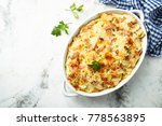 homemade pasta bake with ham... | Shutterstock . vector #778563895