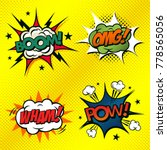 set of comic book arts. boom ... | Shutterstock .eps vector #778565056