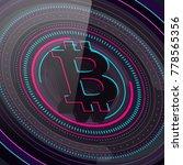 abstract bitcoin technology hud ... | Shutterstock .eps vector #778565356