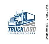 truck trailer logo | Shutterstock .eps vector #778576246