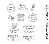 vector set of handdrawn floral... | Shutterstock .eps vector #778577476