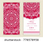 wedding invitation cards... | Shutterstock .eps vector #778578958