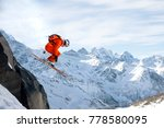 a professional skier makes a... | Shutterstock . vector #778580095