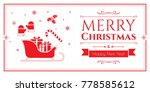 set of christmas icons in... | Shutterstock .eps vector #778585612