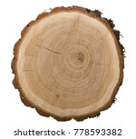 large circular piece of wood | Shutterstock . vector #778593382