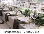 wedding. banquet. the chairs... | Shutterstock . vector #778599115