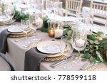 wedding. banquet. the chairs... | Shutterstock . vector #778599118