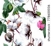 cotton with flower pattern in a ... | Shutterstock . vector #778600036