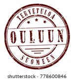 "rubber stamp ""welcome to oulu ... 