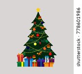 decorated christmas tree | Shutterstock .eps vector #778601986