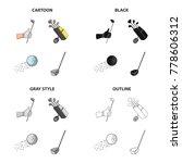 golf stick in hand  putter in... | Shutterstock .eps vector #778606312