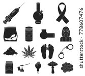 drug addiction and attributes...   Shutterstock .eps vector #778607476