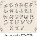 Calligraphic Swirly Alphabet...