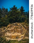 Small photo of Mont Tremblant, Laurentian Mountains, Rocks and Trees
