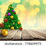 christmas tree background | Shutterstock . vector #778609975