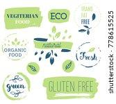 fresh  organic  gluten free ...   Shutterstock .eps vector #778615525