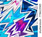 graffiti bright psychedelic... | Shutterstock .eps vector #778615585