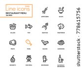 restaurant menu   line design... | Shutterstock .eps vector #778615756