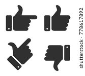 hand icon set. stocl... | Shutterstock .eps vector #778617892