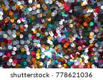 colorful round sequins on... | Shutterstock . vector #778621036