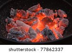 Red Hot Burning Charcoal...