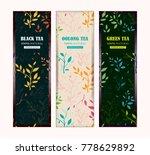 set of vector templates for tea ... | Shutterstock .eps vector #778629892