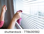 hand of young woman cleaning... | Shutterstock . vector #778630582