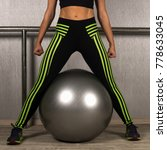 the strong fit woman is... | Shutterstock . vector #778633045