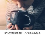 a young girl inhales the aroma... | Shutterstock . vector #778633216