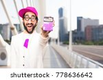 young crazy businessman with a... | Shutterstock . vector #778636642