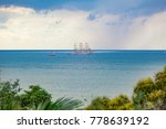 beautiful sailing ship. old... | Shutterstock . vector #778639192
