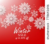 red winter background with... | Shutterstock .eps vector #778641646