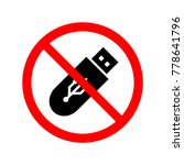 do not use flash drive....   Shutterstock .eps vector #778641796