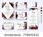 wedding invite  invitation save ... | Shutterstock .eps vector #778642312