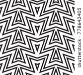 black and white geometric... | Shutterstock .eps vector #778642405