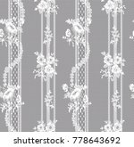 seamless floral lace pattern ... | Shutterstock .eps vector #778643692