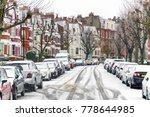 terraced street covered with... | Shutterstock . vector #778644985