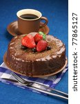 homemade chocolate cake with... | Shutterstock . vector #77865127