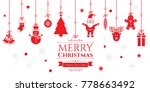 set of christmas icons in... | Shutterstock .eps vector #778663492