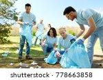 volunteering  charity  people... | Shutterstock . vector #778663858