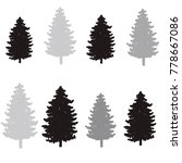 christmas trees seamless... | Shutterstock .eps vector #778667086
