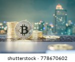 bitcoin cryptocurrency gold... | Shutterstock . vector #778670602