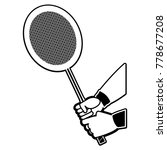 badminton racket design | Shutterstock .eps vector #778677208