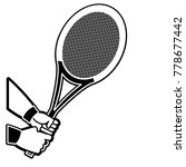 tennis racket design | Shutterstock .eps vector #778677442