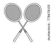badminton racket design | Shutterstock .eps vector #778678105