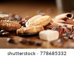 aroma coffee chocolate cookies... | Shutterstock . vector #778685332