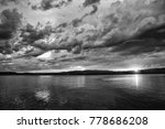 storm on the lake  black and... | Shutterstock . vector #778686208