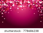 valentines day floating hearts... | Shutterstock .eps vector #778686238