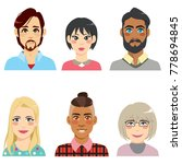 group of people from diverse... | Shutterstock .eps vector #778694845