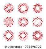 round shape  abstract dots logo.... | Shutterstock . vector #778696702